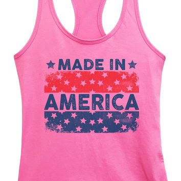 Womens Made In America Grapahic Design Fitted Tank Top