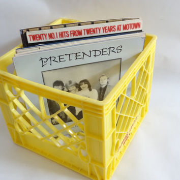 Milk Crate Storage Box Container Bin Retro Vintage