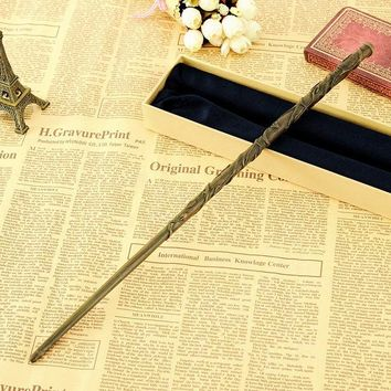 Metal Core Magical Wand Newest Deluxe COS Hermione Granger Magic Wands/Stick with Gift Box Packing for harry potter cosplay