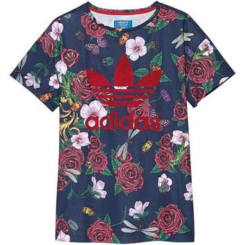 Adidas Originals Women's Rita Ora Roses T-Shirt ALL SIZES FREE SHIPPING S11814