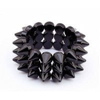 Three Layers Spike Bracelet