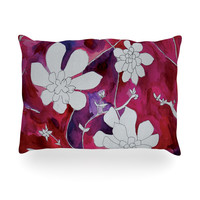 "Theresa Giolzetti ""Succulent Dance II"" Oblong Pillow"