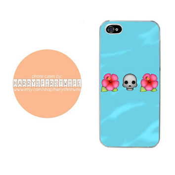 Skull and Flower Emoji iPhone 4/4s 5/5s/5c & iPod 4/5 Case