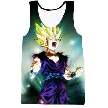 Dragon Ball Z Super Saiyan Tank Tops 3D (20 Styles)