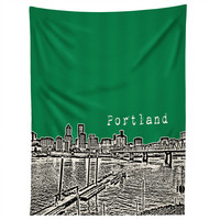 Bird Ave Portland Green Tapestry