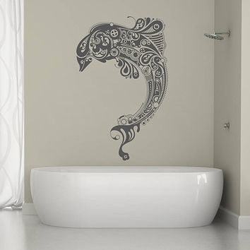 kik1324 Wall Decal Sticker stippank Sea dolphin bathroom living room bedroom