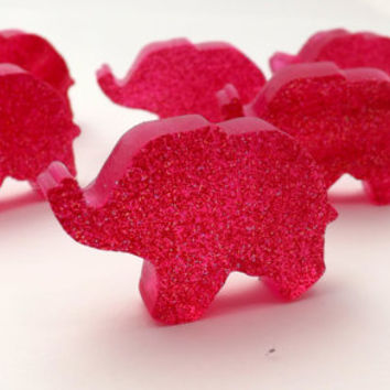 BULK 300 Mini Elephant Favors for Indian Wedding or Baby Shower Favors; Natural Glycerin Soap, Personalized Custom Tags & Labels