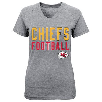 Kansas City Chiefs Palladium Tee - Girls 4-6x, Size: