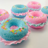 Bath Bombs - Donut Bath Bomb - Donut BathBomb - Pink Bath Bomb  - Sprinkles  - Birthday Gift - Bath Bombs for Kids - Bathbombs