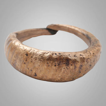 Ancient Viking Womans Wedding Band, Jewelry C.866-1067A.D. Size 5 3/4  (15.8mm)(BRR765)
