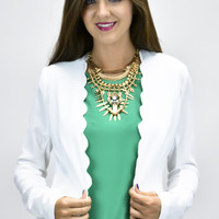 Fancy Respectful Scallop Blazer