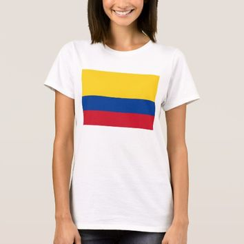 Women T Shirt with Flag of Colombia