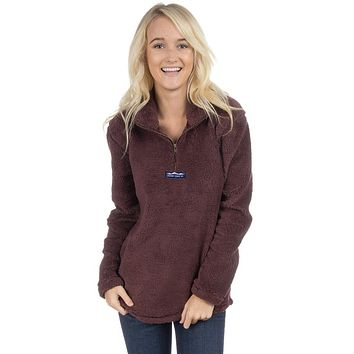 Linden Sherpa Pullover in Chocolate by Lauren James - FINAL SALE