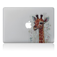 Graffiti cute giraffe  Vulture style Vinyl Decal Laptop Sticker For Apple Macbook Pro Air 11 13 15 inch Laptop Skin