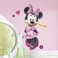 Disney Minnie Mouse Peel & Stick Wall Decal (Pink)