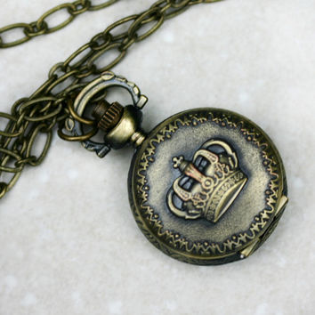 GAME OF THRONES Necklace - Crown Pocket Watch