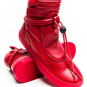Ylati Giove High Red Leather Sneaker