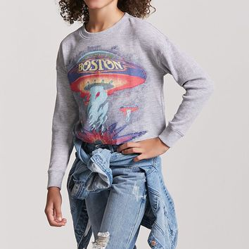 Girls Boston Graphic Top (Kids)