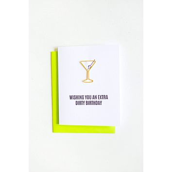 Best! Extra Dirty Birthday Paper Clip Letterpress Greeting Card