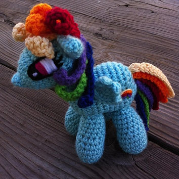 My Little Pony Rainbow Dash Crochet Amigurumi Brony Lovers