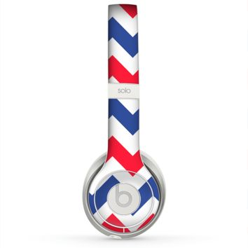 The Patriotic Chevron Pattern Skin for the Beats by Dre Solo 2 Headphones