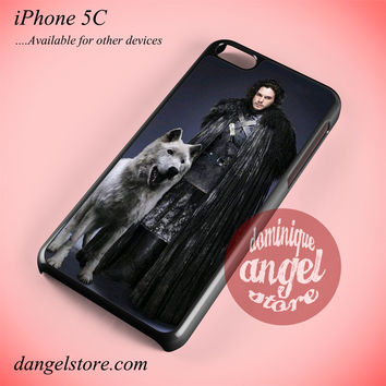Game Of Thrones Snow And His Wolf Phone case for iPhone 5C and another iPhone devices