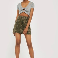 TALL Camouflage Denim Skirt | Topshop