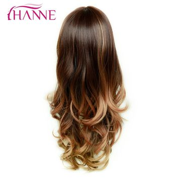 HANNE Mix Brown Blonde 26inch Long Wavy  Synthetic Wigs