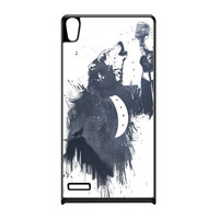 Wolf Song 3 Black Hard Plastic Case for Huawei P6 by Balazs Solti