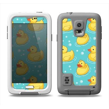 The Cute Rubber Duckees Samsung Galaxy S5 LifeProof Fre Case Skin Set