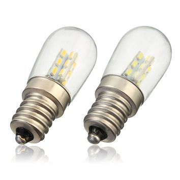 E12 2W Screw Base High Bright 3014 SMD 24 LED Glass Shade Light Lamp Bulb Pure Warm White 220V For Sewing Machine Refrigerator