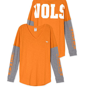 University of Tennessee Long Sleeve V-neck Tee - PINK - Victoria's Secret