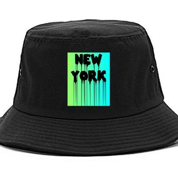 Kings Of NY New York Dripping Paint Font Bucket Hat Cap