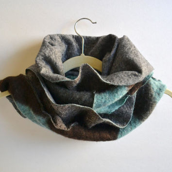 Felted Cashmere Scarf - Women's Winter Scarves - Women's Cashmere Scarf - Scarflette