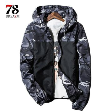 Men Bomber Jacket Thin windbreaker men Long Sleeve Camouflage Military Jackets Hooded Outwear Army male tactical jacket