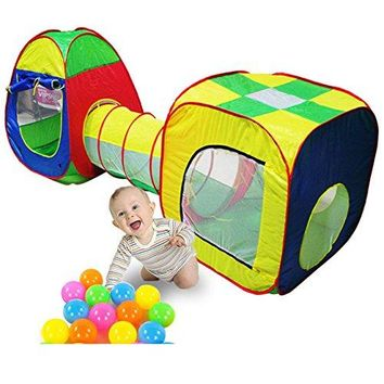 Children Cubby Tube Teepee Pop up Baby Play Tent Tent Baby Tunnel