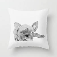 French Bulldog 2 Throw Pillow by Olivia James
