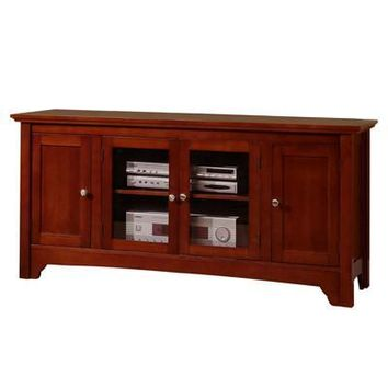 Everlasting Wood TV Console with Four Doors by Walker Edison