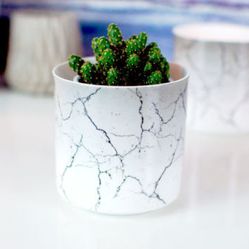Marble Effect Ceramic Vase Plant Pot