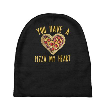 you have a pizza my heart Baby Beanies
