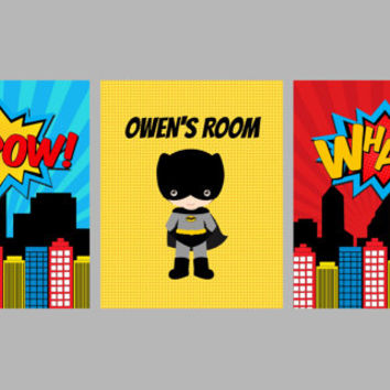 Amazing Superhero Wall Art For Kids Images - Wall Art Collections ...