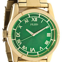 Flud Watches The Moment Watch in Gold Emerald : Karmaloop.com - Global Concrete Culture