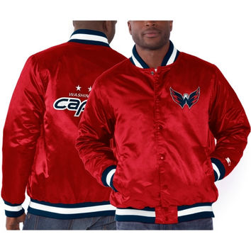 Washington Capitals Starter Genuine Satin Jacket - Red