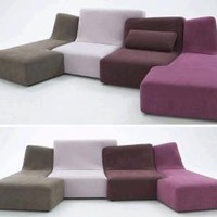 Love Seat + Sofa Set = Colorful Puzzle-Piece Couch Designs | Designs & Ideas on Dornob