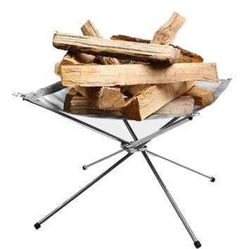 Portable folding wood stove outdoor