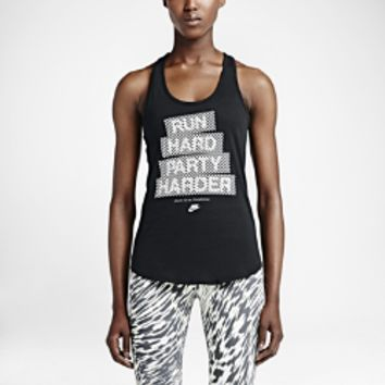 "Nike ""Run Hard Party Harder"" Women's Tank Top"