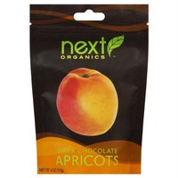 Next Organics Dark Chocolate Apricots (6x4 OZ)