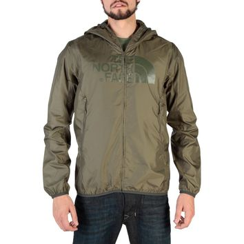 "Men's Green ""The North Face"" Hooded Anorak Raincoat Windbreaker"