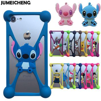 New 3D Cartoon Minions Stitch Sulley Silicone Case For Wiko Wim/Wim Lite/View/Robby /S Kool/Harry/Sunset/Ridge Fab 4G Cover