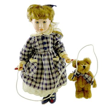 Boyds Bears Resin TAYLOR & JUMPER PLAYTIME Polyresin Limited Edition Doll 4926